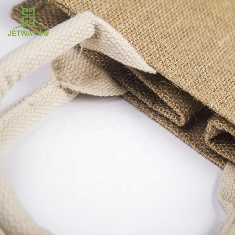 Wholesale promotional eco reusable foldable jute tote bag shopping