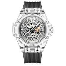 Switzerland Алмазная резка Япония Miyota кварц 2019 Новые Модные прозрачные силиконовые парные часы мужские водонепроницаемые rolexable(Китай)