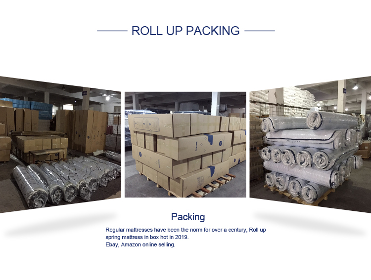 25cm plain home used wholesale roll or compressed  pocket spring mattress