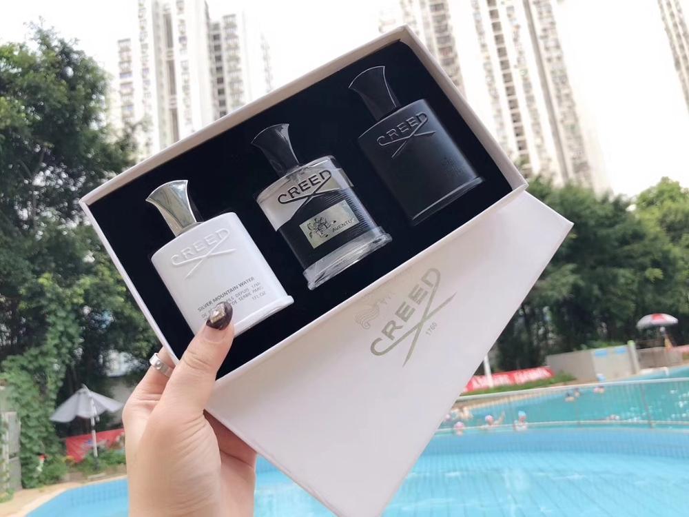 New Creed Men Fragrance Set 3pcs set Intense Scent Parfum Silver Mountain Water Creed aventus Green Irish Tweed 30ML*3 Free ship