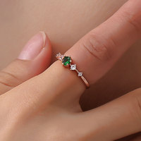Creative fashion Lovers Promise Wedding Engagement Statement Ring Charming jewel ring for women Party Crystal Ring