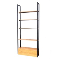 Metal 5layer Multipurpose book display rack standing wood store display stand rack Shelves For General Store