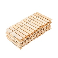 High Quality Inexpensive 36PCS Spring Wooden Clothes Pegs, Strong Birch Wooden Cloth Clothespin Peg
