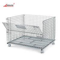 Euro Wholesale Custom Professional Warehouse Galvanized Partition Lockable Layer Forklift Metal Wire Mesh Cage