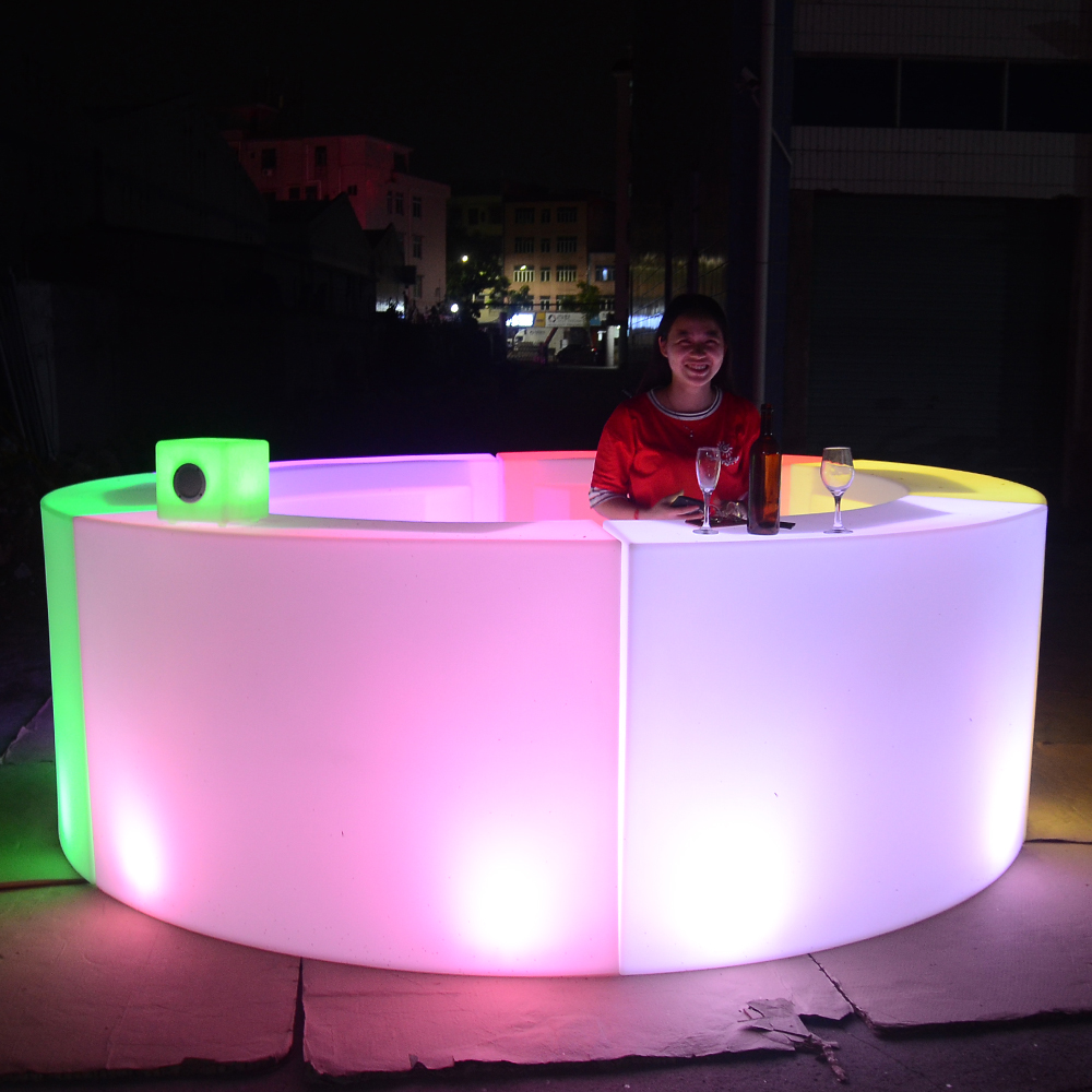 illuminated led <strong>bar</strong> counter modern home indoor outdoor furniture led lighted <strong>bar</strong> counter table chair for sale