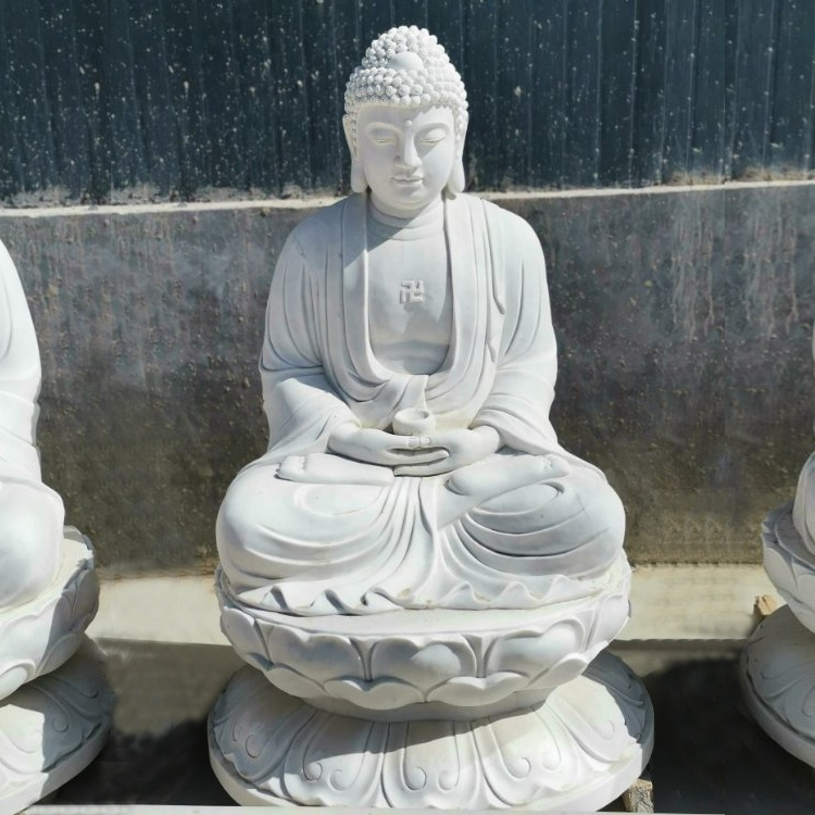 Hot sale indian style white marble stone buddha statue