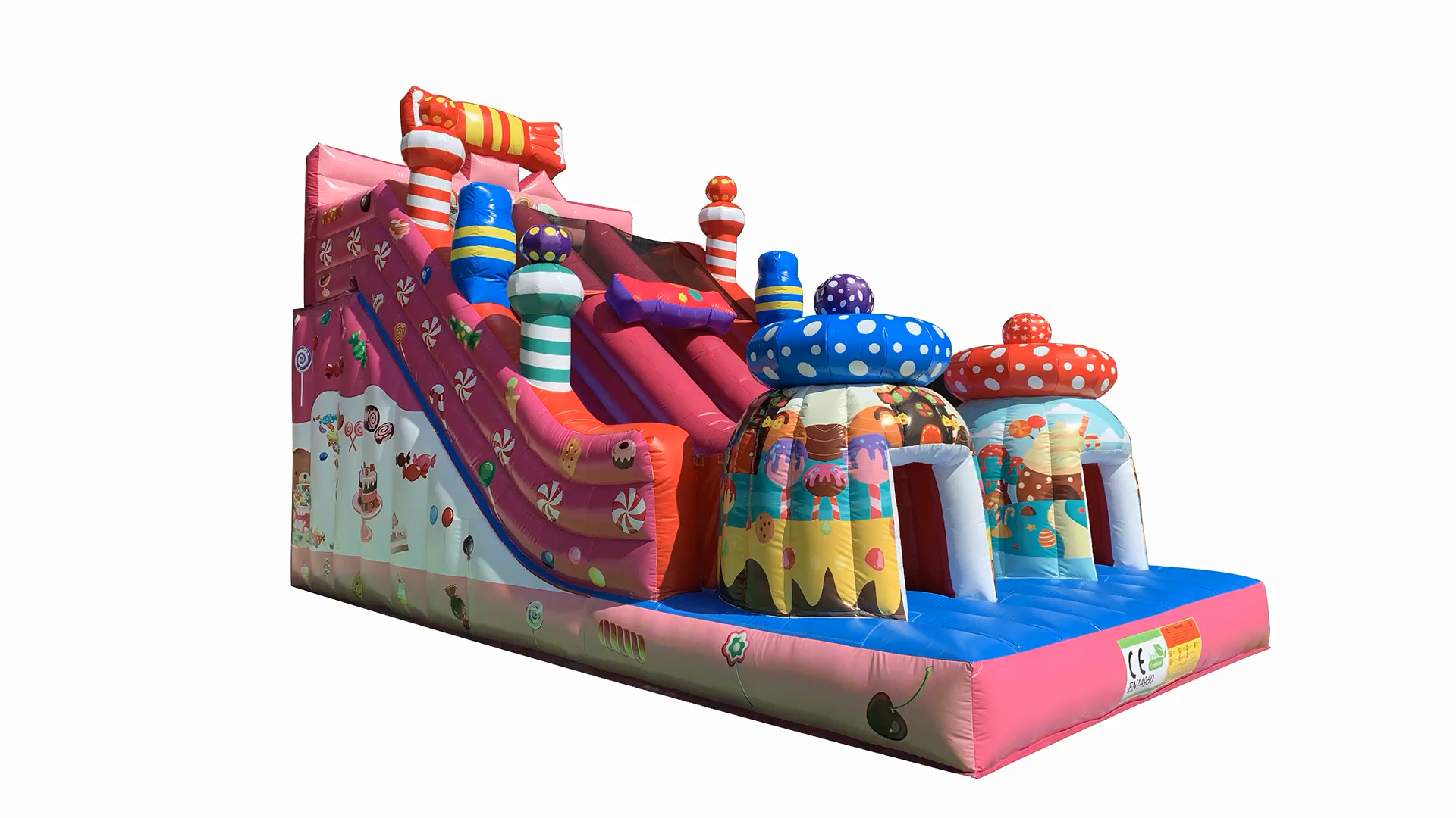 2020 hot sale colorful cheap funny popular inflatable candy bouncy slide for sale outdoor inflatable bouncer games