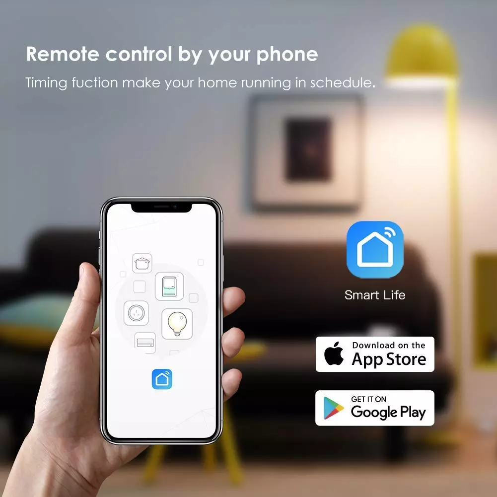 Tuya App 10A/15A Smart Wifi Power Strip With 4 USB Port Work With Amazon Alexa Google Assistant