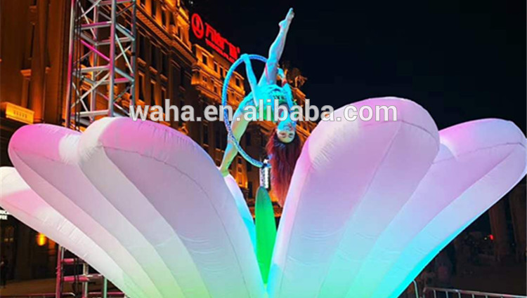 Artificial Giant Inflatable Flowers with LED Light