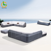 2020 hot sale comfortable dubai garden hotel recliner modern sectional outdoor couch (free combination, weather resistant)