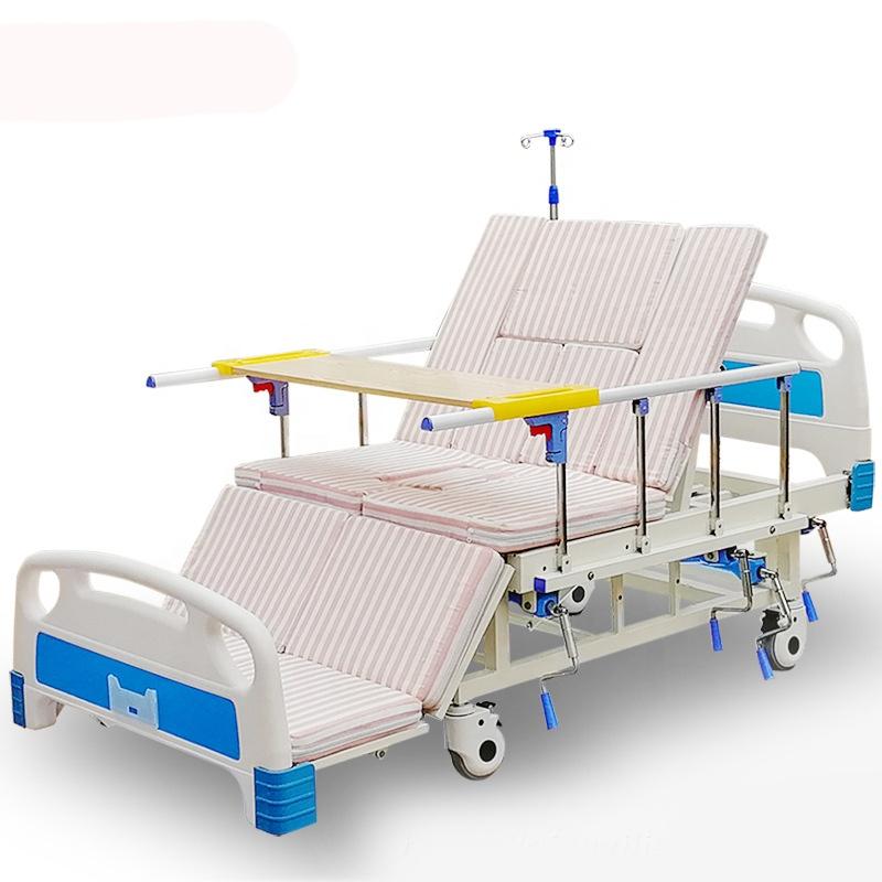 Full-curtain nursing bed patient elderly Manual 5-function medical bed turned over hospital bed