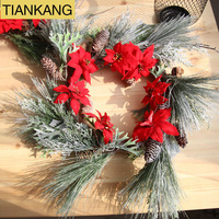 poinsettia christmas wreath frame poinsettia christmas wreath decorative tree poinsettia christmas flower
