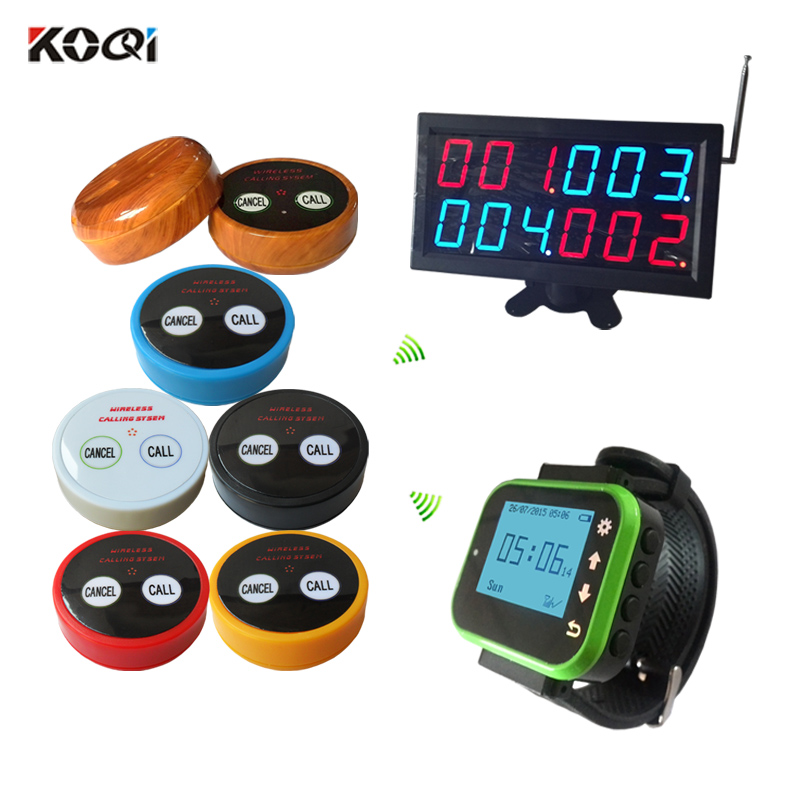 433.92MHZ restaurant service button watch pager wireless table bell vibrators waiter call system