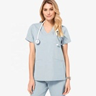 new fashion wholesale medical nursing scrubs uniforms set