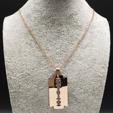 Мужские ожерелья из нержавеющей стали, черные готические ожерелья и подвески, ювелирные изделия, N17939, 2019(Китай)