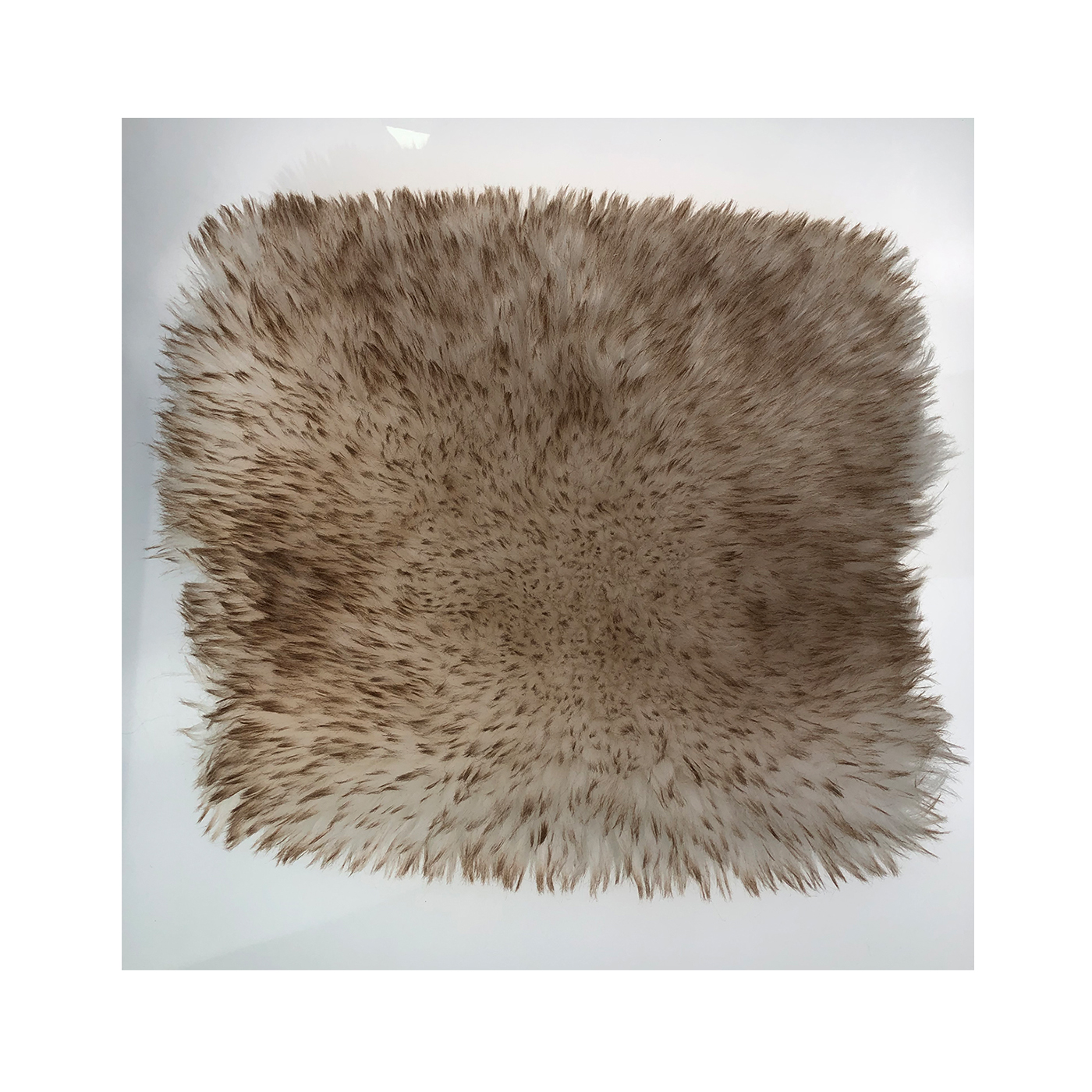 White artificial wool brown dyed tip high-quality home textile fabric stock plush fabric
