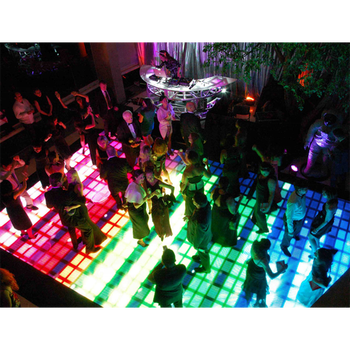 Indoor Flexible Acrylic Radar Interactive Dance Floor P6.25 LED Display Screen
