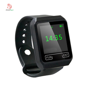 High quality wireless portable waterproof wrist touch screen watch receiver pager