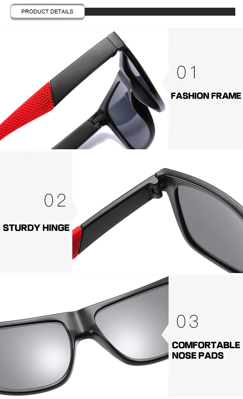 Fuqian men folding sunglasses fashion design for running-11