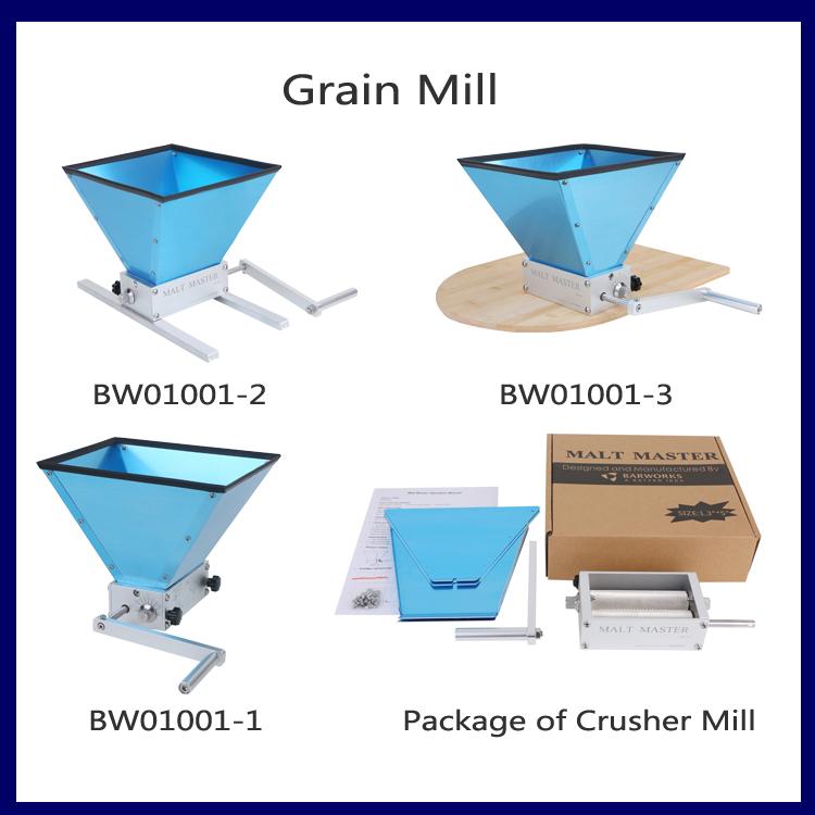 2-Rollers Stainless Steel Grain Mill Barley Crusher Malter Mill
