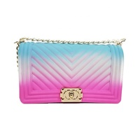 New style women colorful candy shoulder tote purse mini crossbody pvc jelly bag