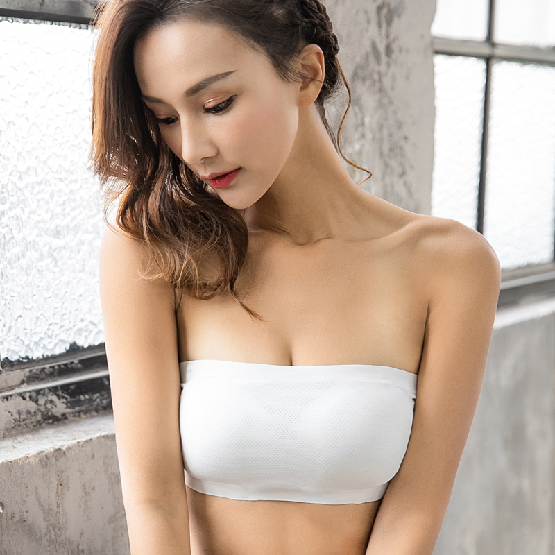 Nieuwe Ontwerp Strapless mooie ontwerp padded bandeau sexy boob top naadloze beha goede kwaliteit Tube Top