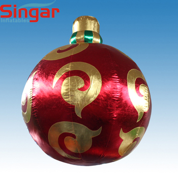 Cheap giant ornaments ball inflatables,ceiling hanging balls for christmas