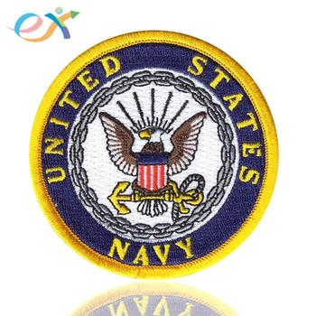 High quality wholesale military shoulder clothes badges custom iron on embroidered patches for clothing