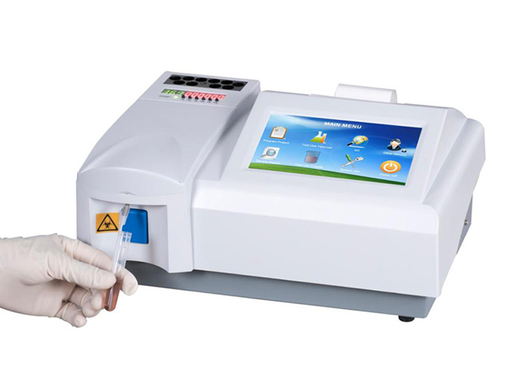 Medical blood test machine 7 inch color LCD touch screen clinical semi-auto chemistry analyzer price
