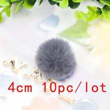 10 шт./лот 3-6 см Разноцветные помпоны поделки DIY плюшевый шар для брелок-сумочка и вязаная шляпа сумка аксессуары(Китай)