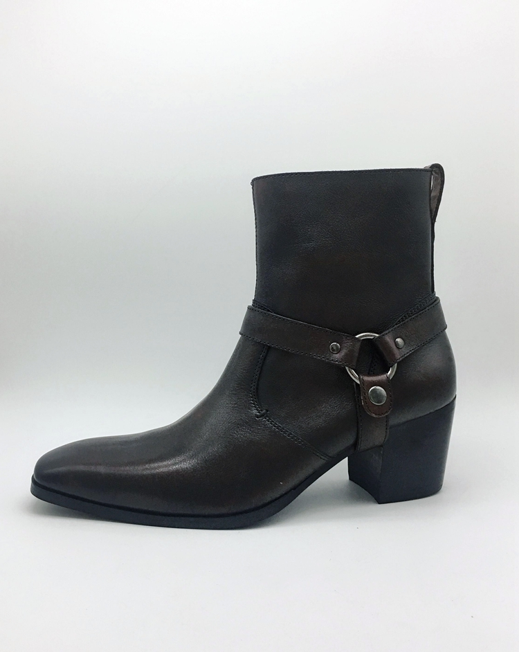 mens cowboy genuine leather high boots ridding boots for men