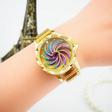 Женские часы VOHE модные часы с сетчасы часы с магнитным ремешком Роскошные модные геометрические кварцевые часы Relogio Feminino(Китай)