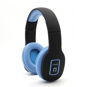 KOMC portable over ear wireless bluetooth wired gaming earphone foldable headphones headset for silent disco game sport