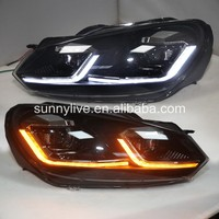 New Design LED Head Light with projector lens for VW Golf 6 update to Golf 7.5 style 2009- 2013 sy