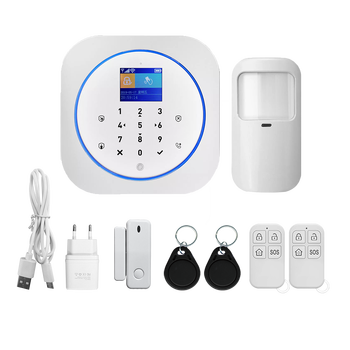 New design wireless tuya smart alarm system gsm+wifi home security