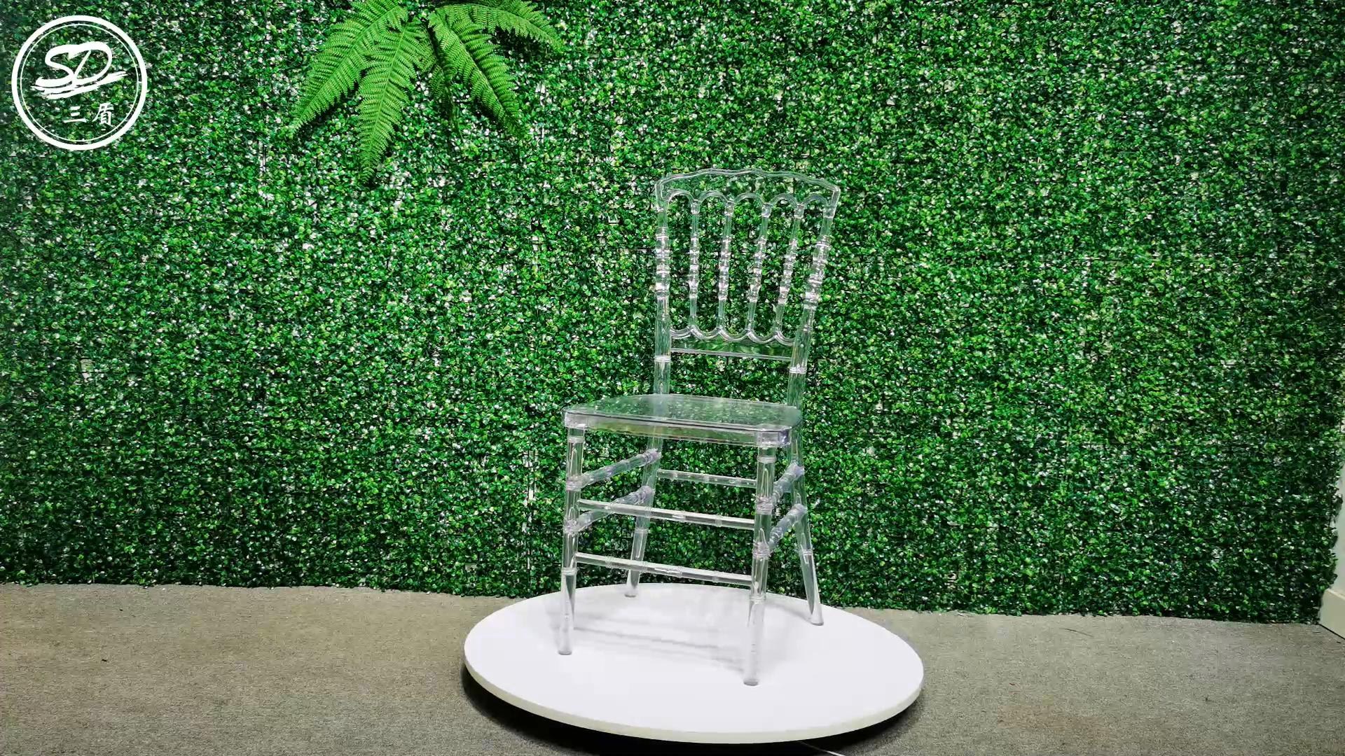 Barato Aluguer de Plástico Transparente De Acrílico Cristal Casamento Cadeira Napoleão AC-003