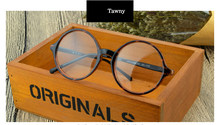TR90 прозрачные круглые очки для мужчин и женщин, винтажные Ретро большие очки, оптическая оправа по рецепту, прозрачные маленькие очки Gafas(Китай)