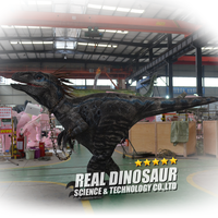 Walking Mechanical Velociraptor Hidden Legs Dinosaur Costume