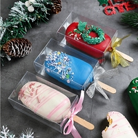 Factory Price Wholesale Custom Foldable Safe Food Storage Containers Clear Cakesicle Boxes