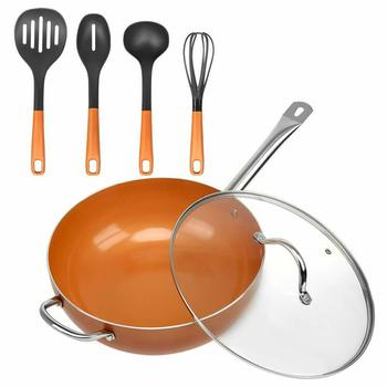 Eco-friendly professional cooking 6 pieces cookware set ceramic coating