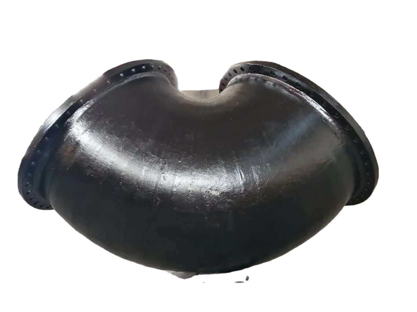 ISO 2531 elbow 90 degree DCI bend ductile iron pipe and fittings flanged