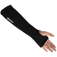 Seeway Safety Wrist Protector Black Aramid Anti Cut Fireproof Sleeve Arm Protection with Thumb Slot against Burns