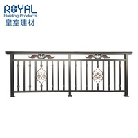 Factory custom making aluminum railing&balustrade for porch/stairs/deck