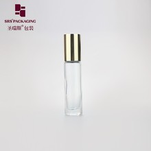 Empty cosmetic mini clear color thick wall glass essential oil bottle 10 ml