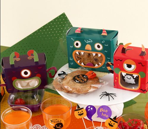 Halloween Monster Gift Box Candy Cookies Mini Halloween Cute Box