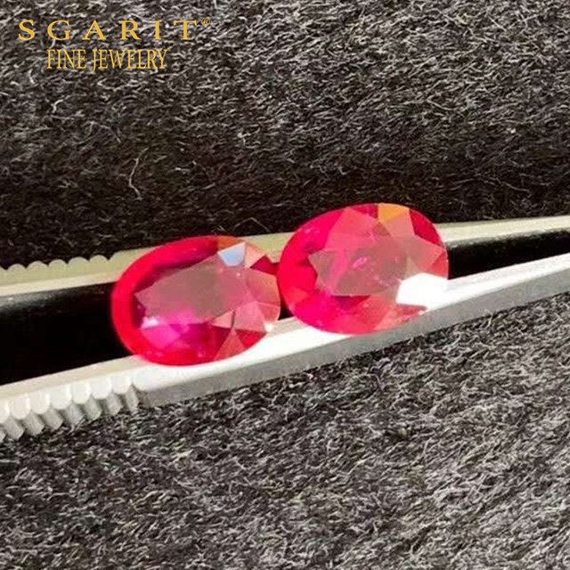 SGARIT rare precious loose gemstone for earring jewelry 2.66ct Burma Mogok pigeon blood red natural unheated ruby