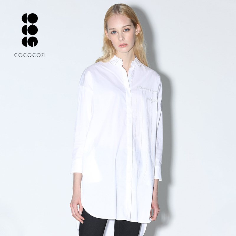 Wholesale <strong>blouse</strong> long sleeve turn down collar <strong>cotton</strong> <strong>blouse</strong> Simple style <strong>ladies</strong> tops
