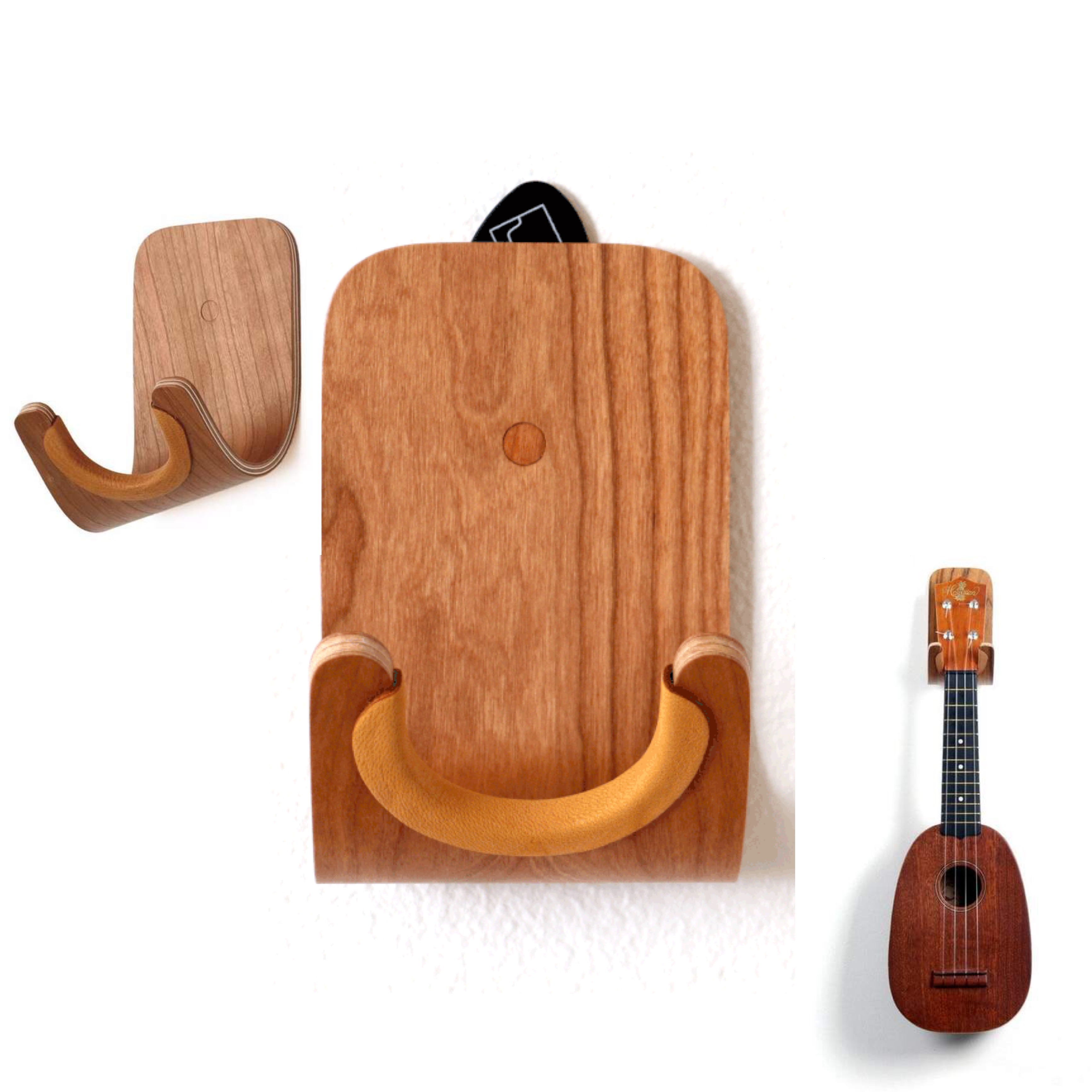 Haltbaren Geformten Sperrholz Wand Montieren Holz Kleiderbügel Ukulele Gitarre Haken