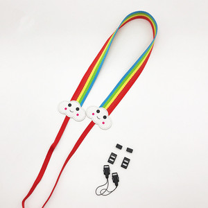 custom logo polyester fabric 105cm length adjustable cute dots beautiful shoulder belt camera straps for canon 80d