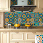 Wallpaper Belzesso 10Pcs Moroccan Hexagon Self-Adhesive Peel And Stick DIY Wallpaper Vinyl Tile Stickers For Bathroom Kitchen Home Decors